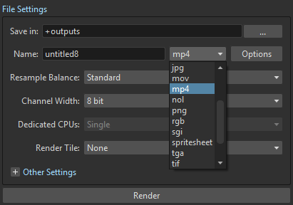 Using FFmpeg with OpenToonz — OpenToonz 1 3 0 documentation